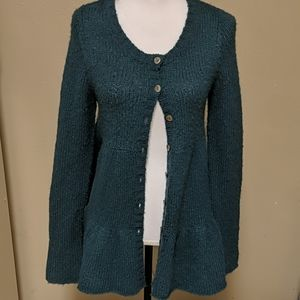 Free People Flared Out Wool Button Down Cardigan